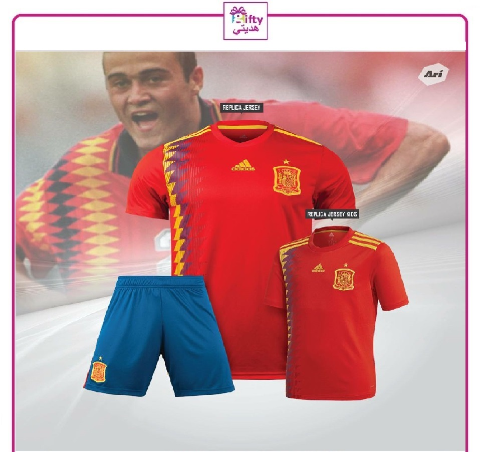 Spain soccer youth uniform 2018