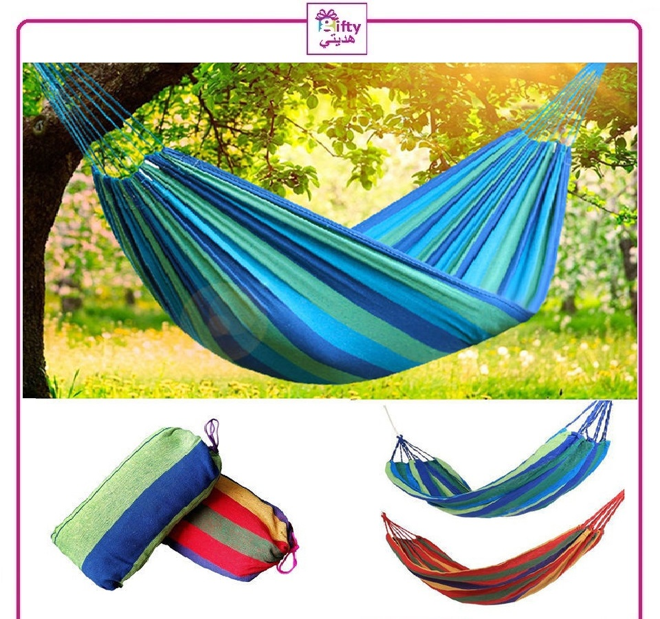 Swing Fabric Camping Hanging Hammock Canvas Bed