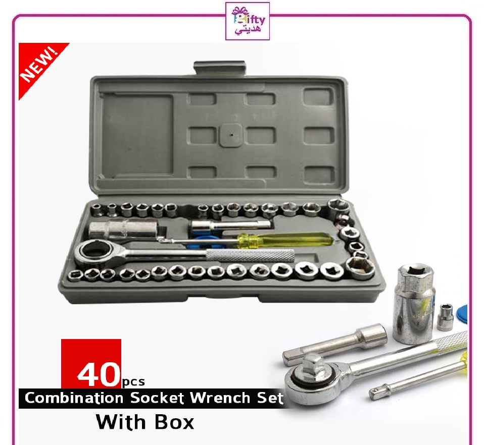 40pcs Combination Socket Wrench Set With Box w