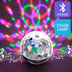 Stage Lamp Lights Speaker Mini Ball Colorful LED Light Flash Bluetooth Speaker