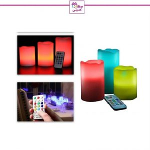 Colour Changing LED Luma Candles With Remote Control w