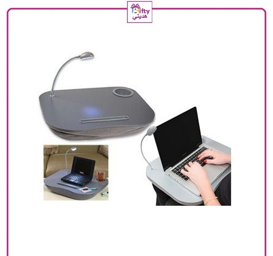 PORTABLE LAPTOP CUSHION DESK WITH LIGHT