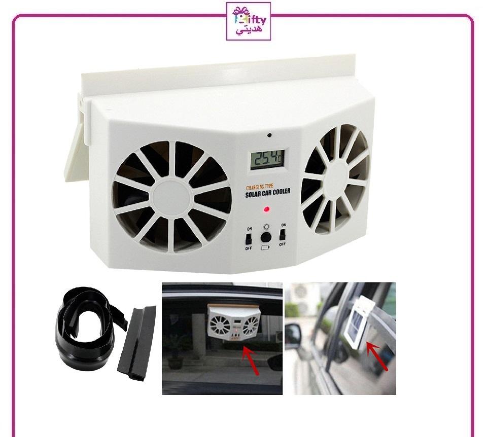 Solar Sun Power Car Auto Air Vent Cool Fan Cooler