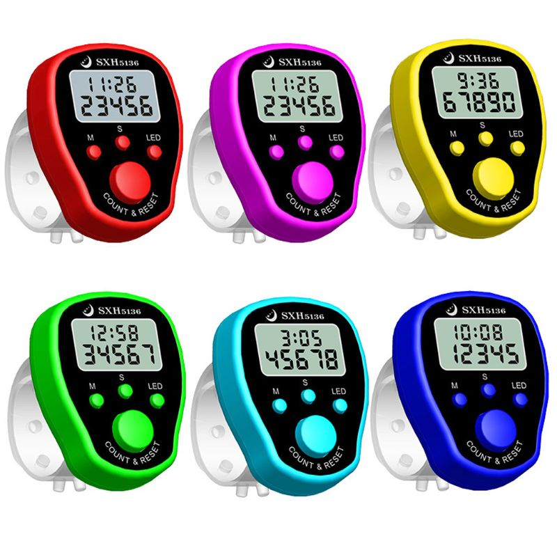 Finger Counter Clock LCD Electronic Digital