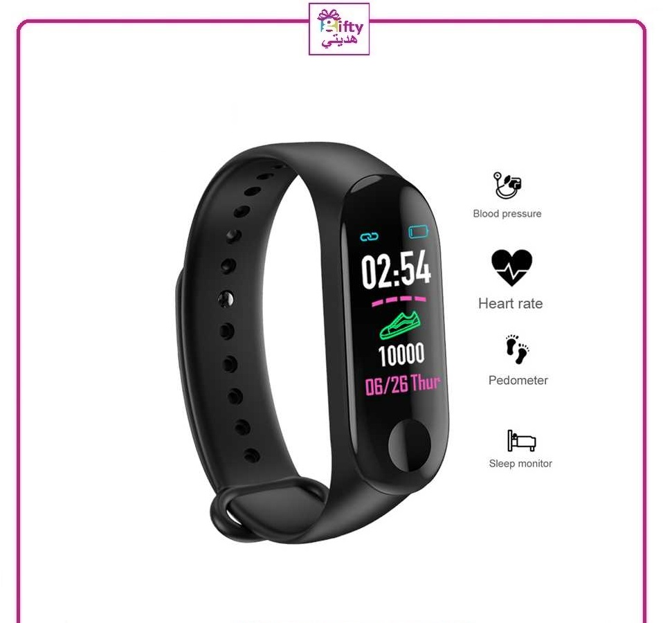 M3 Fitness Bracelet Men Women smart band Waterproof blood pressure Monitor sports Heart Rate
