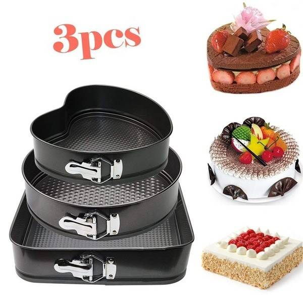 3 PCS SHAPE CAKE MOULD