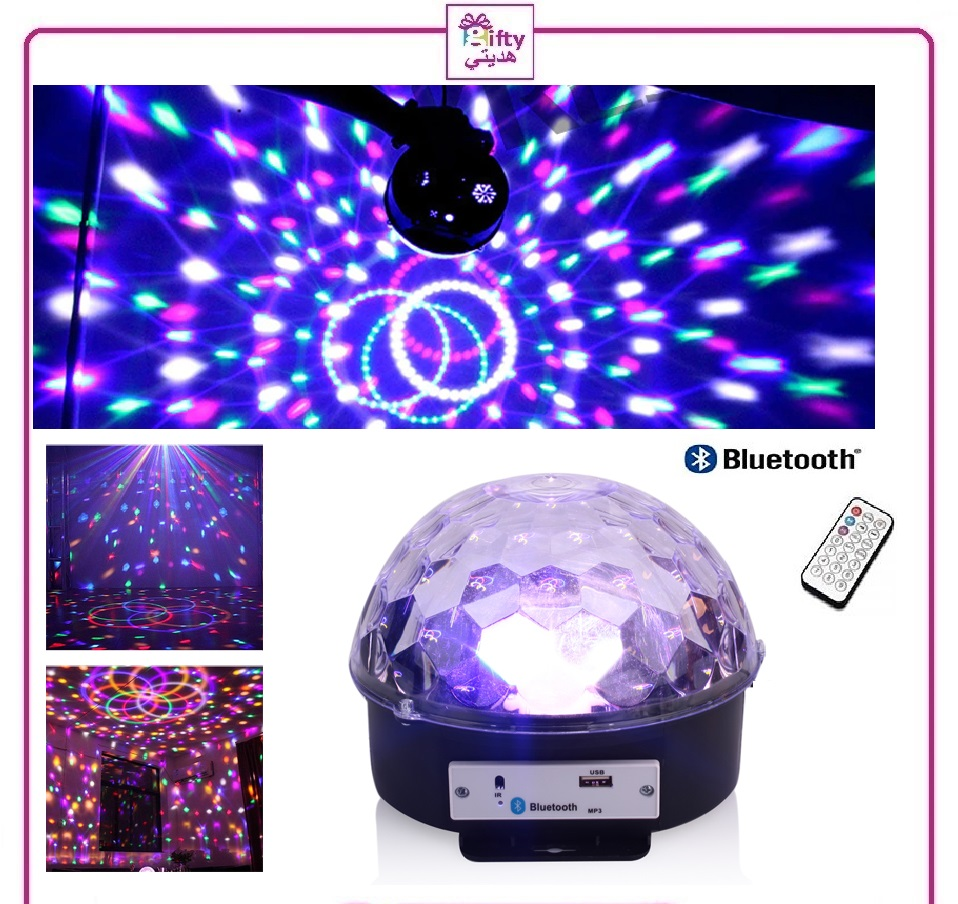 LED Music Light LED Stage Light Crystal Magic Ball Light Smart Colorful Portable Bluetooth  MP3 Loudspeaker