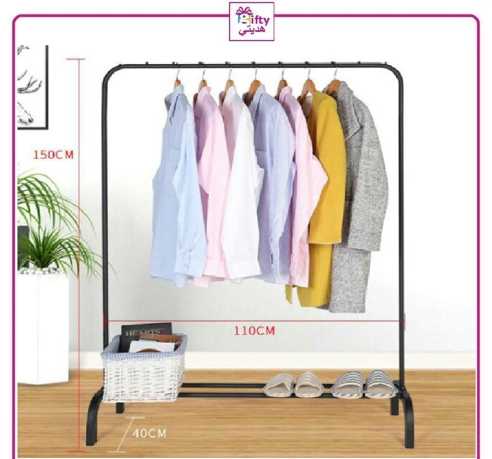 Single Pole Strong Steel Structure Laundry Rack Cloth Organizer Cloth Hanger